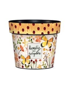 "Beauty is Everywhere 6"" Art Pot"