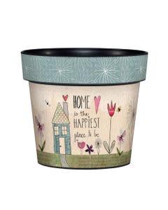 "My Happy Place 6"" Art Pot"
