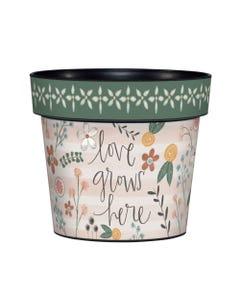 """Love Blooms 6"""" Art Pot"""
