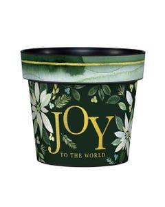 """Poinsettia Joy 6"""" Art Pot"""