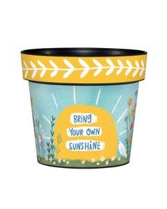 "Bring Your Sunshine 6"" Art Pot"