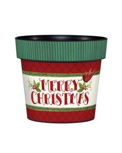 "Christmas Greetings 6"" Art Pot"