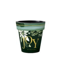 "Poinsettia Joy 12"" Art Planter"