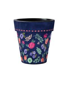 """Boho Flower Toss 15"""" Art Planter"""
