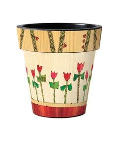 "Tulip Garden 18"" Art Planter"