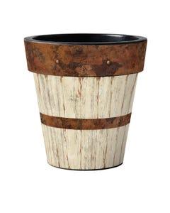"Whitewash Wood  18"" Art Planter"