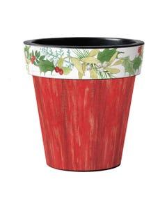 "Winterberry Red 18"" Art Planter"