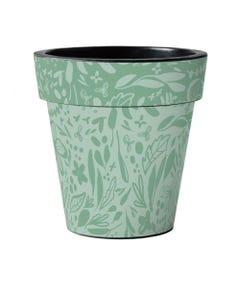 "Green Pattern 18"" Art Planter"