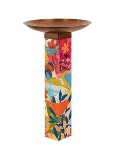 Sentimental Journey Bird Bath Art Pole w/ST9021 Copper Topper