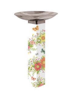 Choose Happy Bird Bath w/ST9025 Stainless Topper