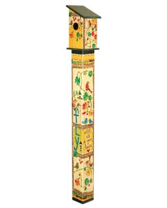 Fly with All Your Heart 5' Birdhouse Art Pole