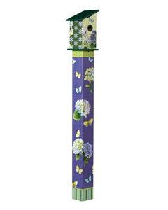 Hydrangea 5' Birdhouse Art Pole