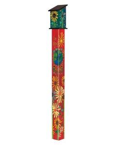 Magic of Kindness 6' Birdhouse Art Pole