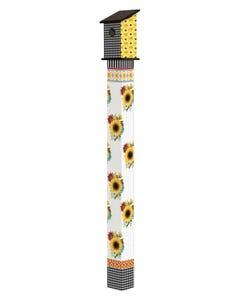 Sunflower Checks 6' Birdhouse Art Pole