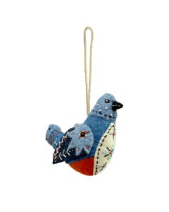 Bluebird Felt Ornament