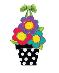 Whimsical Flowers Door Décor