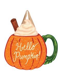 Pumpkin Mug Door Décor