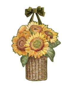 Farmhouse Sunflower Door Décor