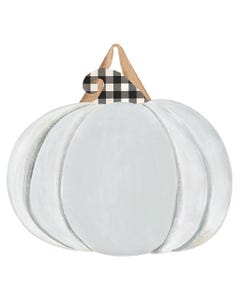 Plaid Pumpkin Blank Door Décor