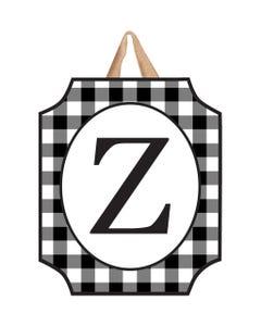 Black And White Check Monogram Z Door Décor