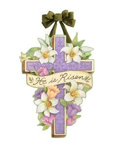 Easter Cross Door Décor