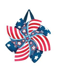Patriotic Pinwheels Door Décor