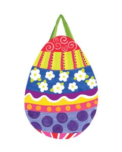 Painted Easter Egg Door Décor