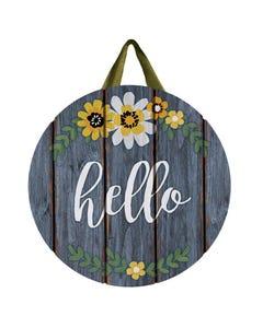 Hello Flowers Door Décor