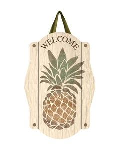 Rustic Pineapple Door Décor