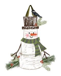 Woodsy Snowman Door Décor
