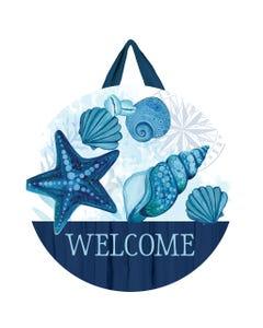 Blue Seashells Door Décor