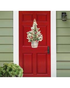 Farmhouse Christmas Tree Door Décor