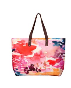 Fire-Abstract Color Tote
