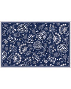 Embroidered Floral - Blue Floor Flair - 2 x 3