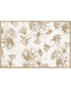 Etched Sunflower -Taupe Floor Flair - 2 x 3