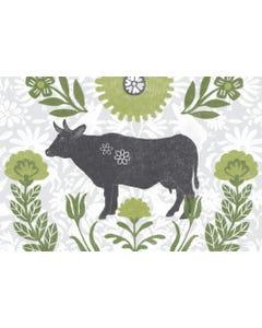 Farmhouse Cow Floor Flair - 2 x 3