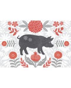 Farmhouse Pig Floor Flair - 2 x 3