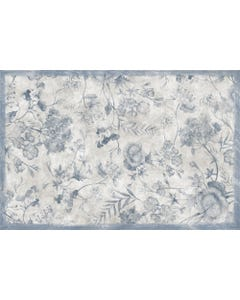 Geraniums - Soft Blue Floor Flair - 2 x 3