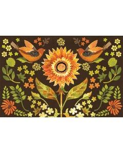 Indian Summer Floral Floor Flair - 2 x 3