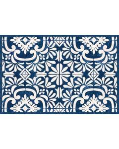 Indigo Tile Floor Flair - 2 x 3