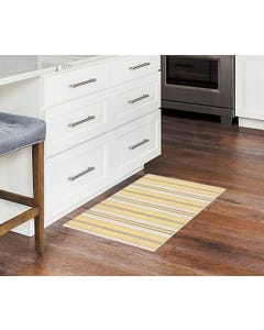 Ticking Stripes - Mustard/Brown Floor Flair - 2 x 3