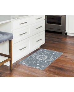 Bandana Plaid - Denim Wash Floor Flair - 2 x 3