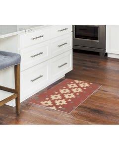 Nordic - Rust and Cream Floor Flair - 2 x 3