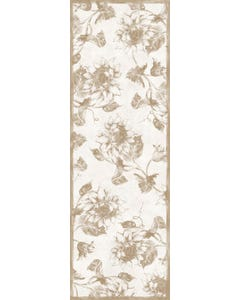 Etched Sunflower - Taupe Floor Flair - 2 x 6