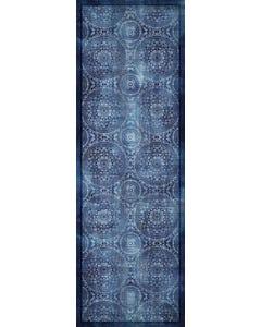 Medallion Blue Floor Flair - 2 x 6