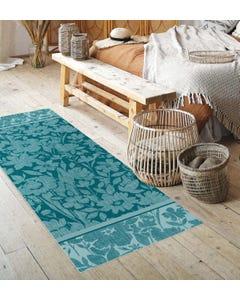 Denby Floral - Teal Floor Flair - 2 x 6