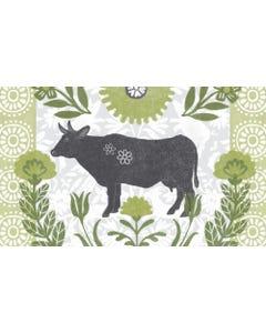 Farmhouse Cow Floor Flair - 3 x 5
