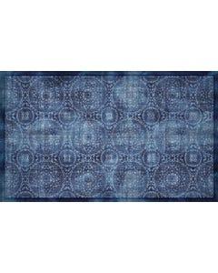 Medallion Blue Floor Flair - 3 x 5