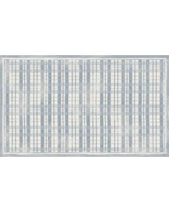 Fine Line Plaid-Blue Floor Flair - 3 x 5