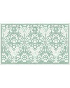 Poppy Damask - Green Floor Flair - 3 x 5